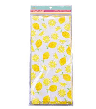 Hello Summer Baking 20 pk Cellophane Treat Bags-Lemon
