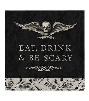 Maker's Halloween 20 pk Lunch Napkins-Skull