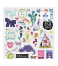 American Crafts Shimelle Head in the Clouds 37 pk Chipboard Stickers