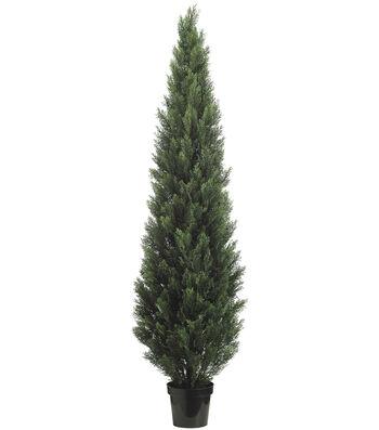 Bloom Room Luxe 84'' Cedar Topiary-Green