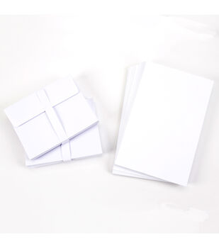 Core'dinations Card/Envelopes:  A2 White; 50 pack