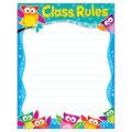 Class Rules Owl-Stars! Learning Chart 17\u0022x22\u0022 6pk