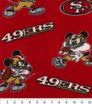 San Francisco 49ers Fleece Fabric-Mickey, , hi-res