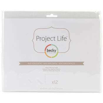 "American Crafts Project Life Page Protectors Horizontal 10"" x 8"""
