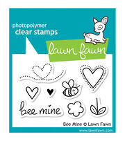 "Lawn Fawn Clear Stamps 3""X2""-Bee Mine, , hi-res"