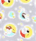 Nursery Cotton Fabric-Happy Moon Animals