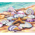 PaintWorks Paint by Number 11\u0027\u0027x14\u0027\u0027 Kit-Shells