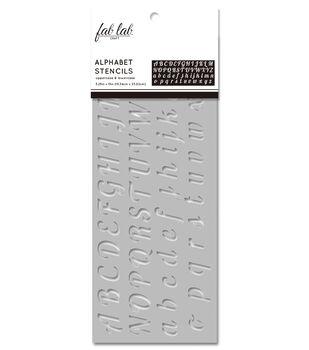 Fab Lab 5.25''x13'' Stencil-Upper & Lowercase Alphabet