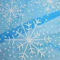 Let\u0027s Pretend Glitter Snowflake on Mesh Fabric-Blue