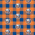 New York Islanders Fleece Fabric-Buffalo Plaid