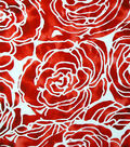 Cape May Polyester & Spandex Fabric -Large Red Floral