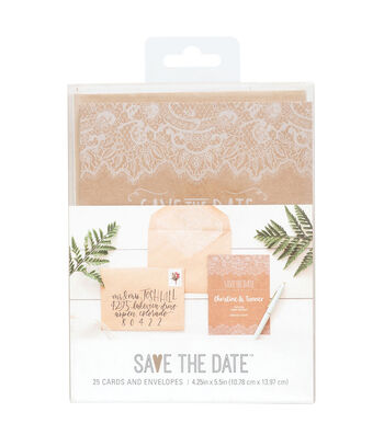 Save the Date Rustic 4.25''x5.5'' Cards & Envelopes