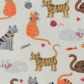 Novelty Cotton Fabric-Watercolor Cats Neutral