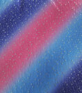 Performance Apparel Fabric-Foil Stars on Pink & Blue Ombre