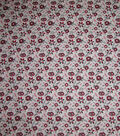 Quilter\u0027s Showcase Cotton Fabric-Red & Black Flowers on Gray