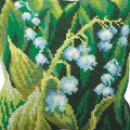 Collection D\u0027Art Stamped Needlepoint Cushion Kit 40X40cm-Muguet Gauche
