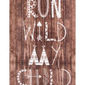 No Sew Fleece Throw 48\u0022-Run Wild My Child Wood