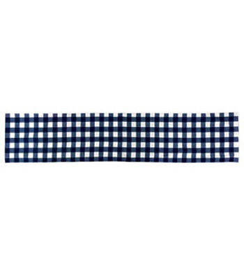 Americana Patriotic 14''x72'' Indoor Table Runner-Blue & White Checks