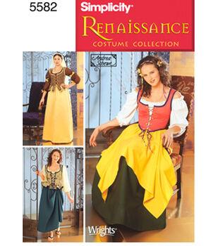Simplicity Pattern 5582-Misses Renaissance Costumes