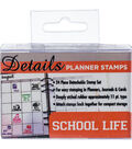 Contact Crafts Details 24 pk Planner Rubber Stamps-School Life