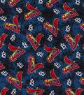 St. Louis Cardinals Flannel Fabric 42\u0022-Tie Dye