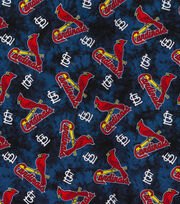 St. Louis Cardinals Flannel Fabric-Tie Dye, , hi-res