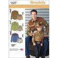 Simplicity Pattern 1327A S - L / S -Men Boy Tops Vests