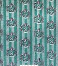 Harry Potter Fleece Fabric 58\u0027\u0027-Slytherin Crest on Stripes