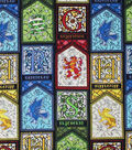 Harry Potter Cotton Fabric -Stained Glass Houses