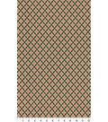 Asian Inspired Cotton Fabric 44\u0022-Patterened Hexagons Metallic