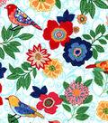 Snuggle Flannel Fabric 42\u0027\u0027-Patterened Birds & Flowers