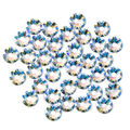 Swarovski 35 pk 4mm Xirius Flat Back Rhinestones-Blue Light Sapphire