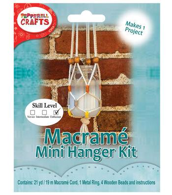 Pepperell Crafts Mini Macramé Hanging Jar Kit
