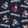 New England Patriots Cotton Fabric-Mickey & Minnie Mouses