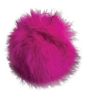Buttercream Pom Pom-Fushia with Black Tips, , hi-res
