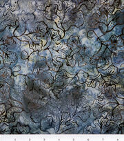 Legacy Studio Batik Cotton Fabric -Grape Leaf on Steel, , hi-res