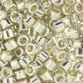 Miyuki 1.6mmx1.3mm Delica Glass Seed Beads-Galvanized Silver