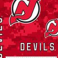 New Jersey Devils Fleece Fabric-Tossed