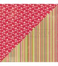 Nostalgia Double-Sided Cardstock 12\u0022X12\u0022-#5 Santa\u0027s Sleigh