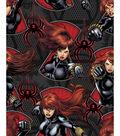 Marvel Comics Black Widow Fleece Fabric 59\u0022-Serious Business