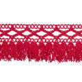 Land of the Free Trim 1.5\u0022 Cluny Fringe 4ft-Red