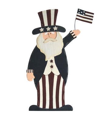 Americana Patriotic Uncle Sam Porch Sitter