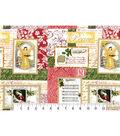 Christmas Cotton Fabric-Peace & Joy Patch