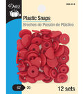 Dritz Plastic Snaps-Red Hearts
