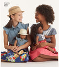 Simplicity Pattern 8350 Children\u0027s American Girl Dress-Size A (3-8)