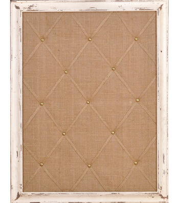 "18""x24"" Distressed Ivory Memo Board"
