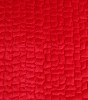 Cobbled Velvet Fabric-Red