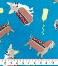 Anti-Pill Plush Fleece Fabric-Hot Dogs