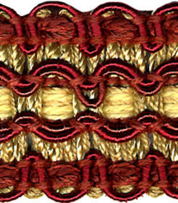 Conso 1in Red/gold Braid