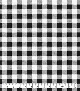 Super Snuggle Flannel Fabric-Black White Buffalo Check